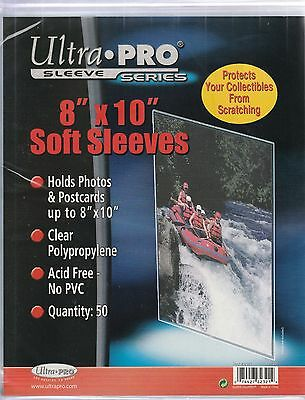 "Ultra-PRO 8"" x 10"" Soft Sleeves Pack of 50 ""great for 8x10 photos lobby cards ++"