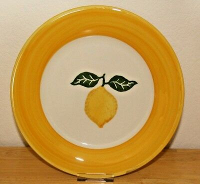 Laura Ashley Summer Fruits - Lemon design 10 inch dinner plate - VGC