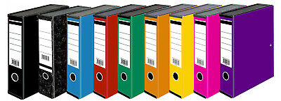 Very Strong Premium Quality Linen Box Files Foolscap Available in 8 Colours