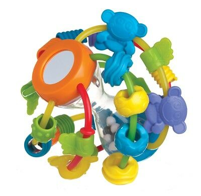 Brand New Playgro Play and Learn Rattle Teething Ball 6m+ BPA Free