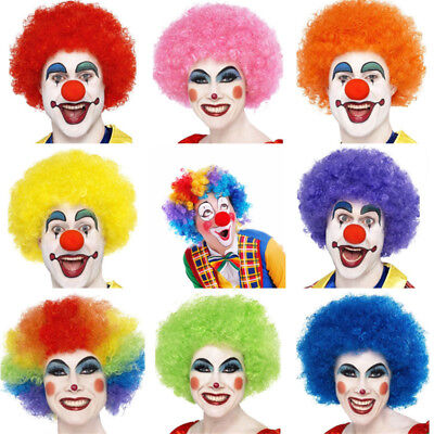 Curly Afro Fancy Dress Wigs Funky Disco Clown Style Mens Costume 70S 80S Hair Uk