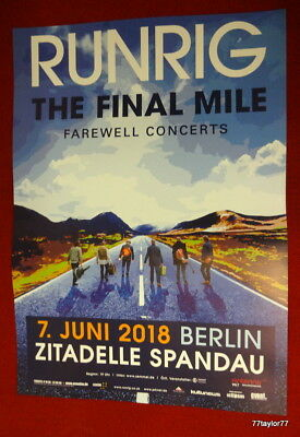 Runrig   Tourplakat   7.6.2018       Berlin