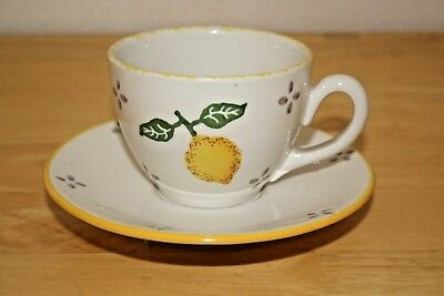 Laura Ashley Summer Fruits - Lemon design Cup & Saucer - VGC