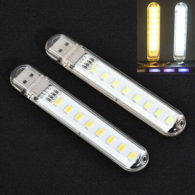 Mobile Power USB LED Lampe 8 LED LED Lampe Beleuchtung Computer Nacht-Licht Neue