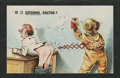 e1857)           1960s  COMIC POSTCARD   -  IS IT CATCHING, DOCTOR ?