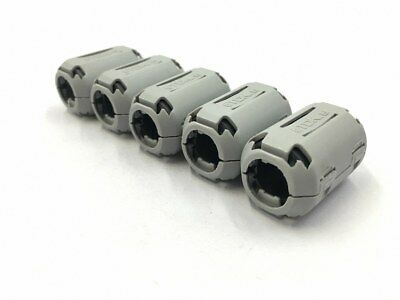 5pcs TDK 13mm Clip On EMI RFI Filter Snap Around Ferrite ship in USA