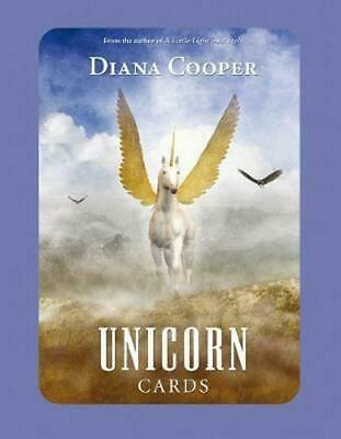 Unicorn Cards by Diana Cooper (English) Book & Merchandise Book Free Shipping!