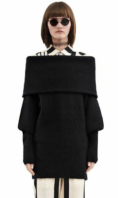 a4bfd30cac61 ACNE STUDIOS  daze mohair black  wool knit jumper sweater off shoulder M