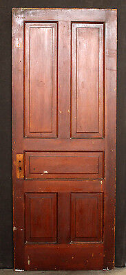 "31""x79""x1.75"" Antique Vintage Victorian Wood Wooden Exterior Interior Door Panel"