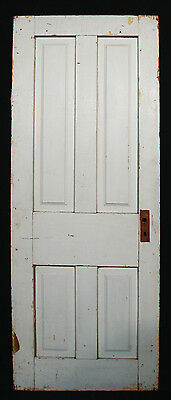 "26""x69"" Antique Vintage Victorian Interior Closet Pantry Wood Wooden Door Panels"