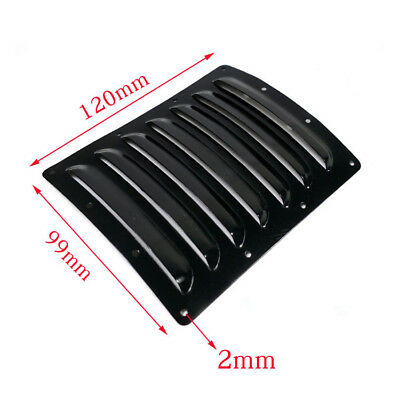 2pcs Aluminum Heat Sinks Cooling Fin Vents 120*99*0.5mm for RC Plane Cowl Black
