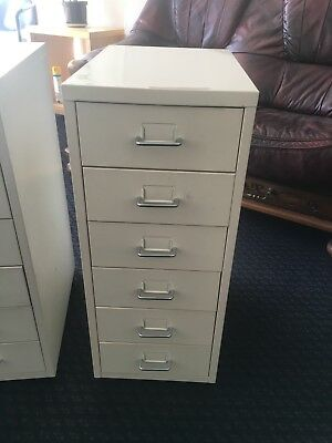 Office Or Home Metal White 6 Draws