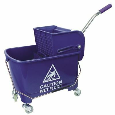 Blue Mobile Mop Bucket and Wringer 20 Litre 101248BU [CNT00416]