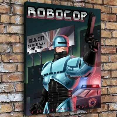 "12""x16""RoboCop Book Home Decor HD Canva Print Picture Wall Art Painting SR103985"