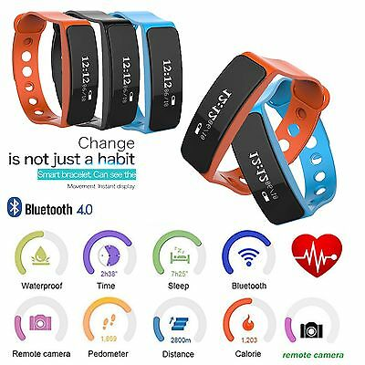 10 X Fitness Sport Smart Bracelet Watch Heart Rate Fitness Activity Tracker