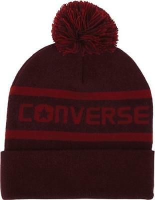 d86c6a27091 NEW CONVERSE WOMENS Wordmark Pom Knit Beanie -  24.95