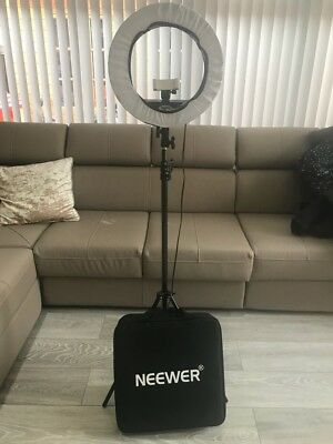Neewer 14 inches Outer/10 inches Inner Ring Light and Stand Lighting Kit