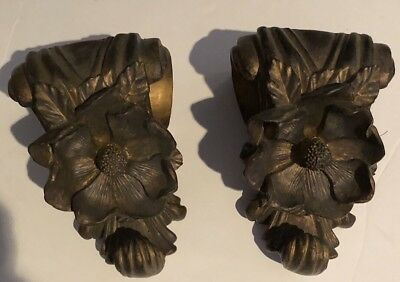 Victorian Ornate Curled Leaves Floral Wall Sconce/bracket/shelve Corbels