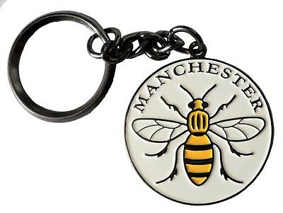 Manchester Worker Bee Mancunian Metal Enamel Keyring 35mm NEW