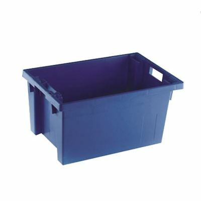 Solid Slide Stack/Nesting Container 600X400X300mm Blue 382966 [SBY24792]