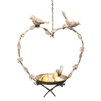 Vintage Style Shabby Chic French Country Floral Hanging Garden Bird Feeder