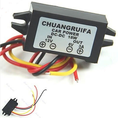 12V to 6V DC converter 6V Transformer Adaptor Step Down 3A  Power Supply 12v -6v