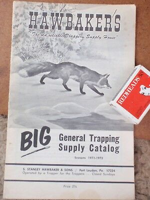 1971 Animal Traps   illustrated  Supply Booklet  30 pages  USA