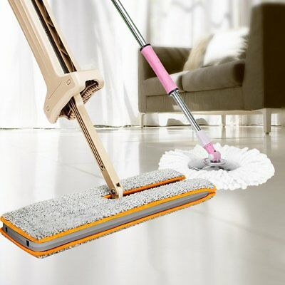 360 Degree Lazy Double-Side ABS Flat Mop Hand-Free Washable Mop Home Cleaning FT