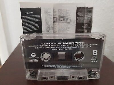 Naughty by Nature-Povertys Paradise HipHop Rap Kassette