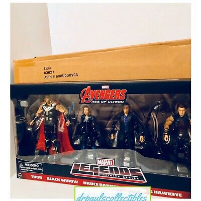 """Marvel Legends Infinite Series AVENGERS 6"""" Age Of Ultron 4 Pack W/Brown Shipper"""