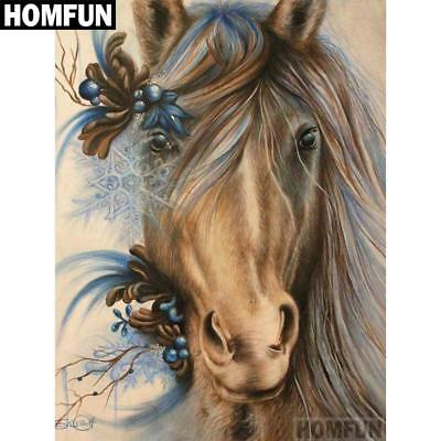 "Full Square/Round Drill 5D Diamond Embroidery Cross Stitch Mosaic ""Horse"""
