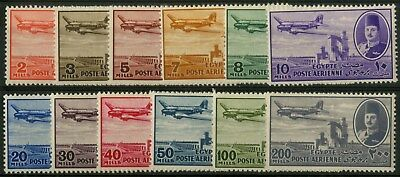 Egypt - SG 322-333 - 1947 - Airmail Set of 12 - Unmounted Mint/MNH