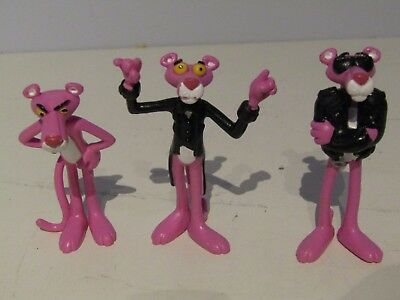 VINTAGE LOT 3 THE PINK PANTHER 1997 Plastoy FIGURE 3'' RARE!!