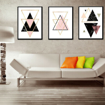 Nordic Style Geometric Art Canvas Painting Wall Print Picture Poster Home Decor