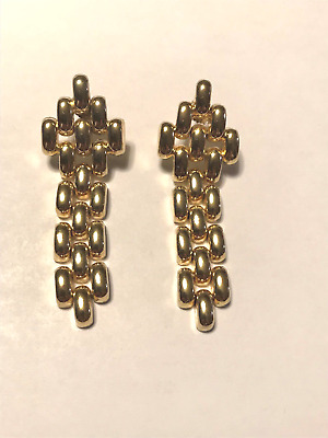 Orecchini  earrings inspired mod. Cartier Panthere argento 925 lamina oro gold