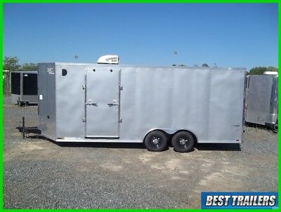 8 x 20 ft race ready extra height enclosed carhauler trailer finsihed cargo new