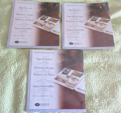 NEW Lot of 3 Sealed CREATIVE MEMORIES 12 x 12 PAGE PROTECTORS 48 Sheets