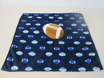 """Boutique FOOTBALL Minky Security Blanket Football/'s #1 Fan SQUARE 32/""""x32/"""""""