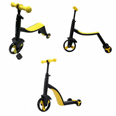 Deluxe Foldable Kids Tricycle Baby Toddler Bike Trike w/ Canopy Parent Push