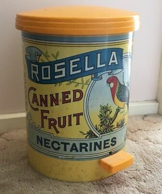 Rosella Pedal Bin Collectable Vintage Australian Classic