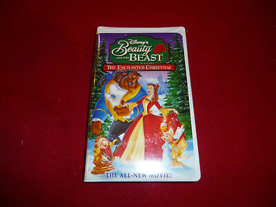 beauty and the beast the enchanted christmas vhs in