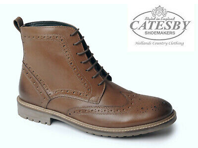 45a0d8ce3ee MENS DEALER LACE Up Chelsea Leather Sole Brogue Office Work Ankle ...