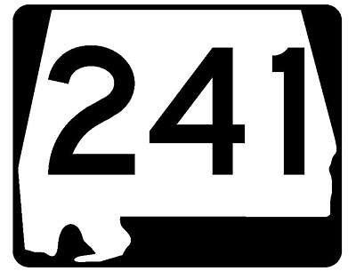 Alabama State Route 241 Sticker R4671 Highway Sign Road Sign Decal