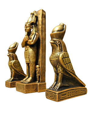 Egyptian decoration Cheops x1 & Horus x2 gold