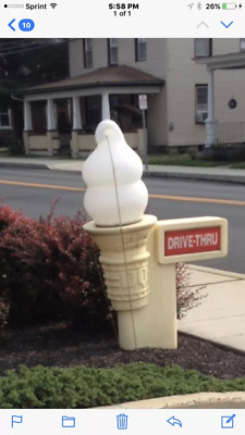 Reduced Priced! 3-Rare Dairy Queen Lighted Cone Signs.
