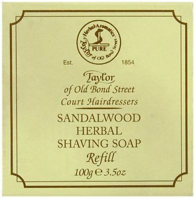 Taylor of Old Bond Street Shaving Soap Sandalwood Herbal Refill 100g/3.5oz