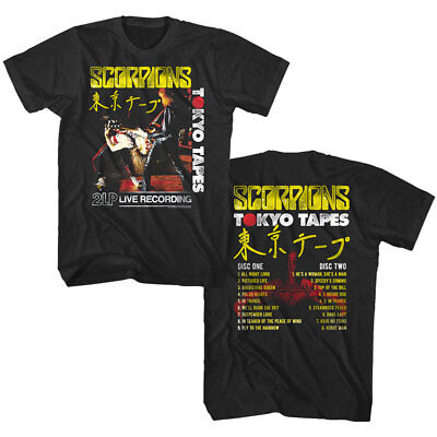 Scorpions Tokyo Tapes Album Cover Art Men's T Shirt Japanese Live Rock Band Tour