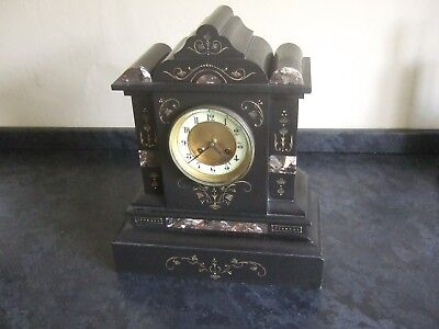 Magnificent French Slate/Marble mantel clock - Japy Freres - Working