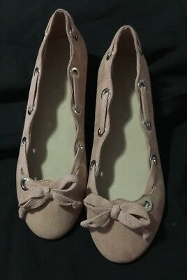 Bnwot Gorgeous Authentic Zara Designer Girls Womens Flat Shoes Size 38