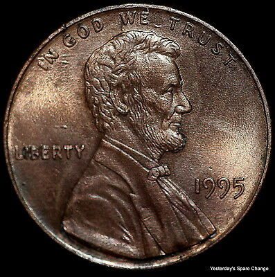 "1995-P Choice High Grade ""Double Die Obverse"" Lincoln Memorial Cent!"